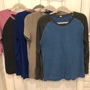 Under Armour Shirt Lot (4)  Large heat gear